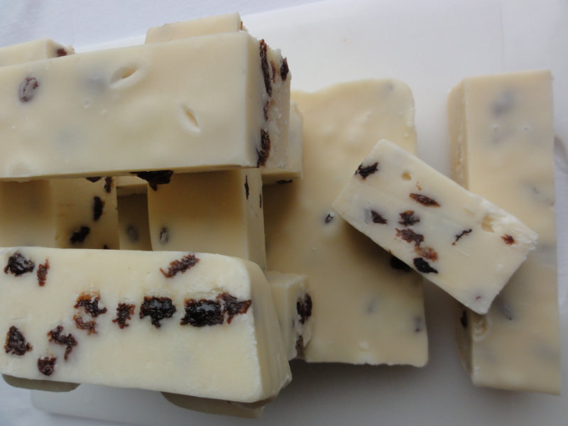 Vanilla Rum Raisin Fudge